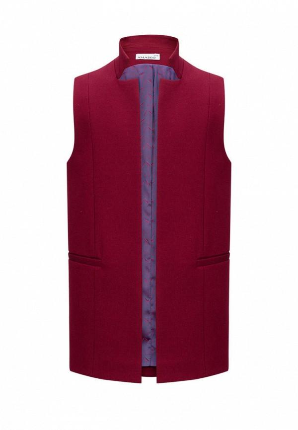 жилет stylish amadeo для девочки, бордовый