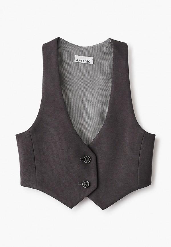 жилет stylish amadeo для девочки, серый