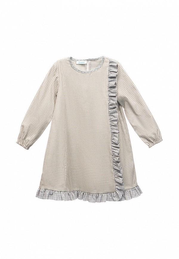 повседневные платье sonata kids для девочки, серое