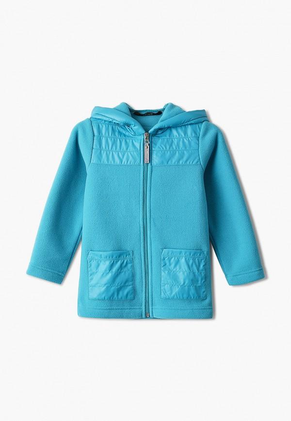 легкие куртка saima для девочки, бирюзовая