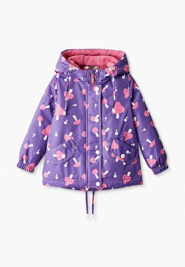 утепленные куртка saima для девочки, фиолетовая
