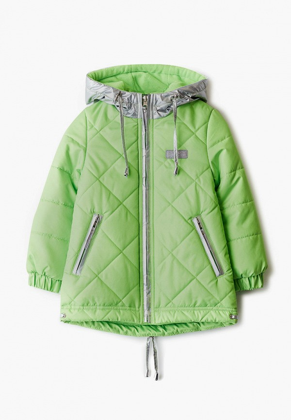 утепленные куртка saima для девочки, зеленая