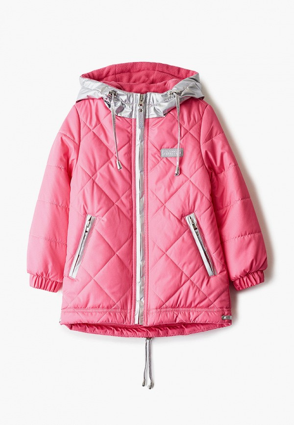 утепленные куртка saima для девочки, розовая