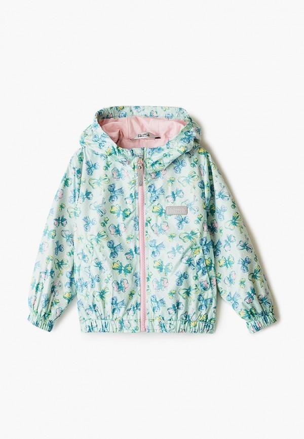 легкие куртка saima для девочки, зеленая
