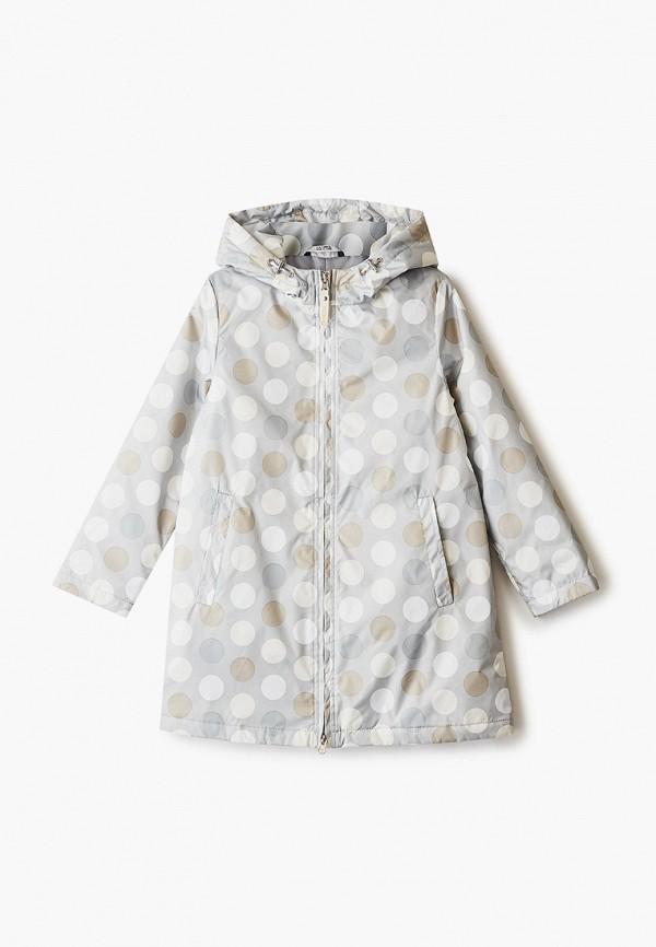 утепленные куртка saima для девочки, серая
