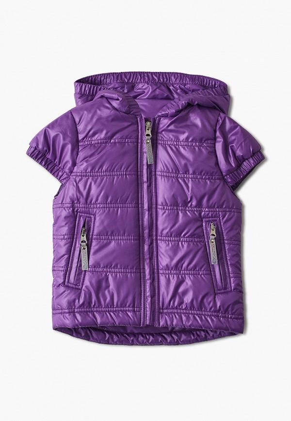 утепленные жилет saima для девочки, фиолетовый
