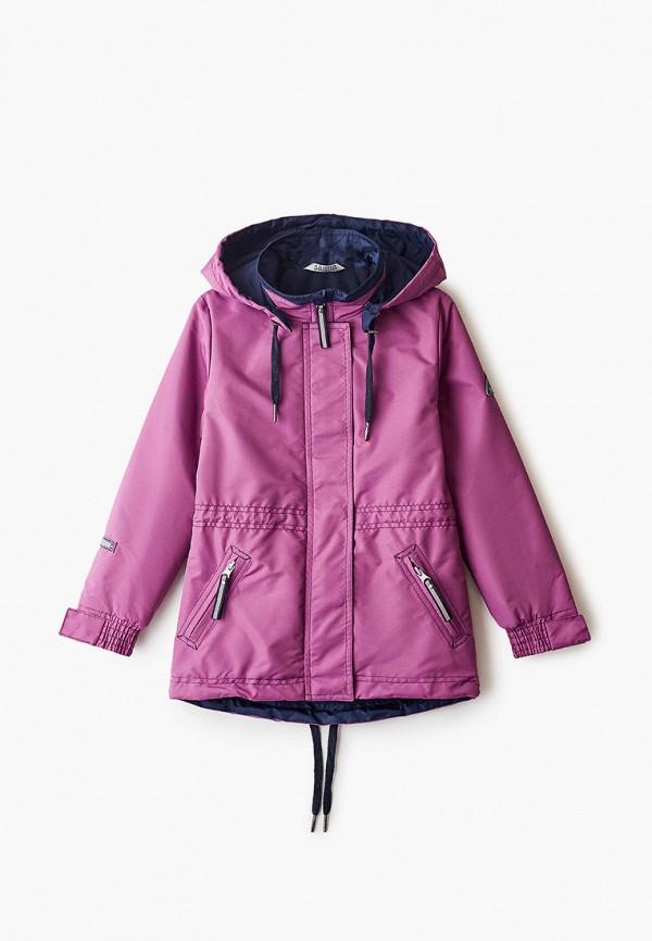 легкие куртка saima для девочки, фиолетовая