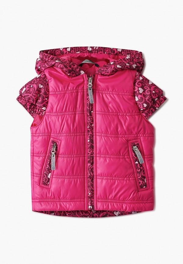 утепленные жилет saima для девочки, розовый