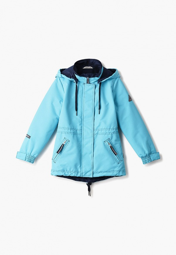 легкие куртка saima для девочки, голубая