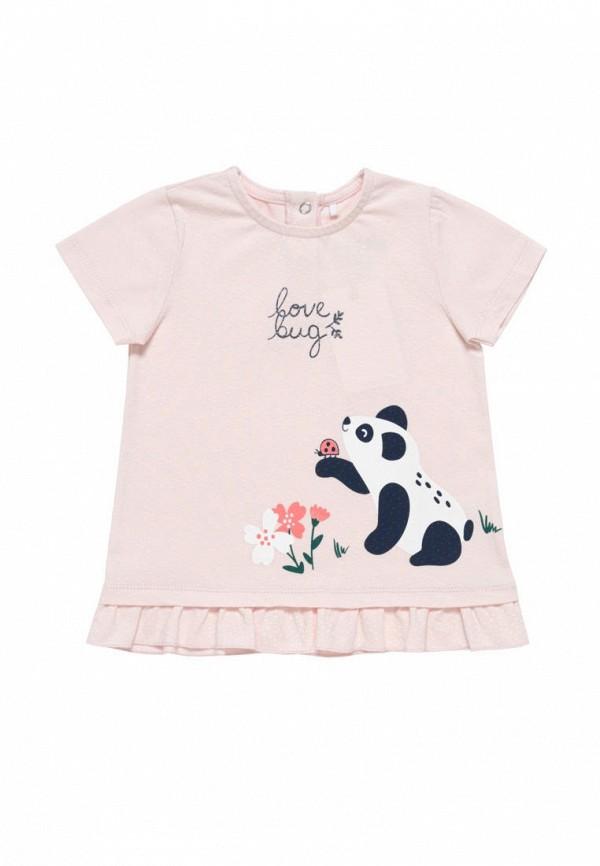 футболка artie для девочки, розовая