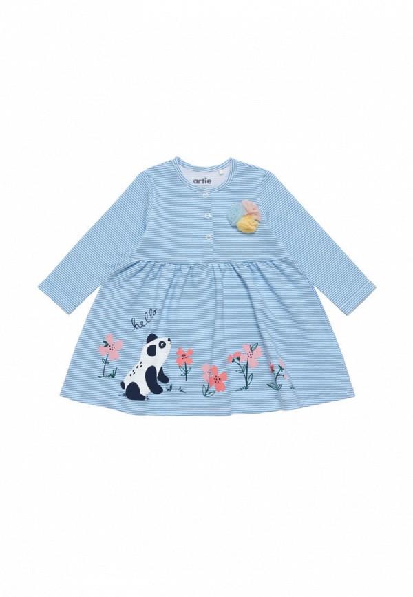 повседневные платье artie для девочки, голубое