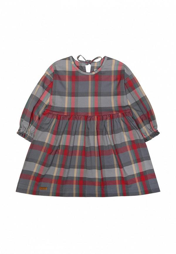 повседневные платье i am для девочки, серое