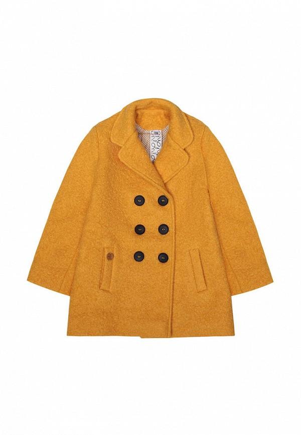пальто i am для девочки, желтое