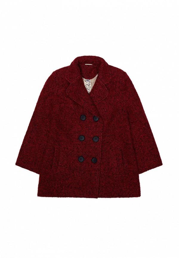 пальто i am для девочки, бордовое