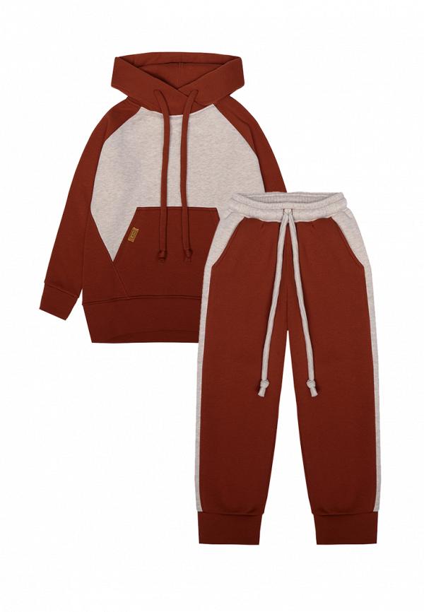 спортивный костюм i am для девочки, коричневый