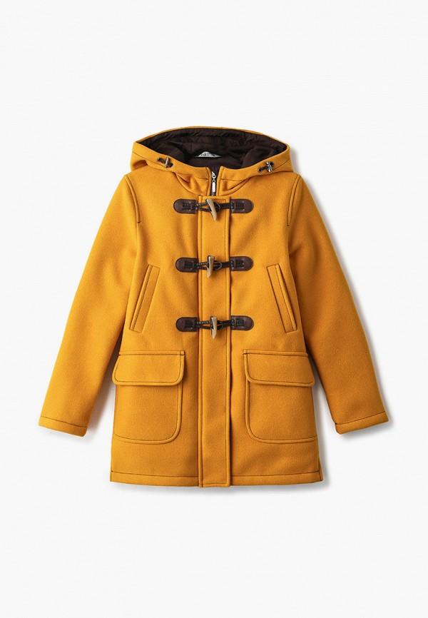 пальто saima для девочки, желтое