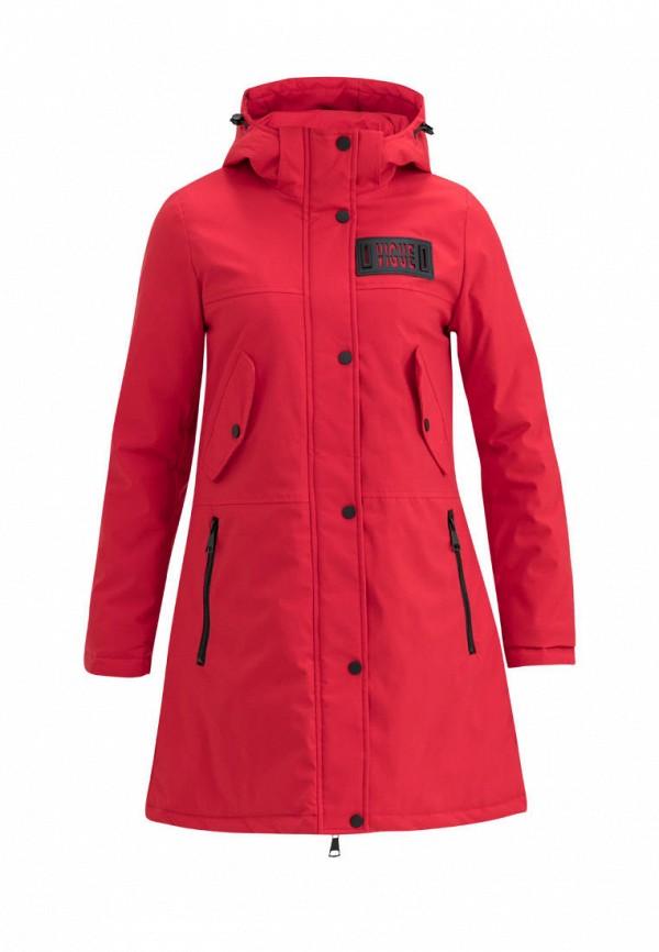 утепленные куртка jan steen для девочки, красная