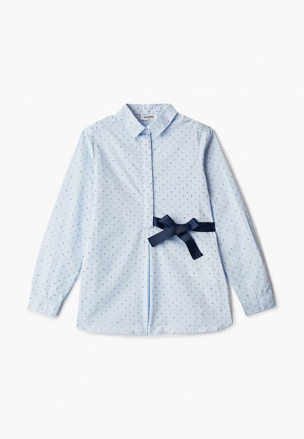 рубашка acoola для девочки, голубая