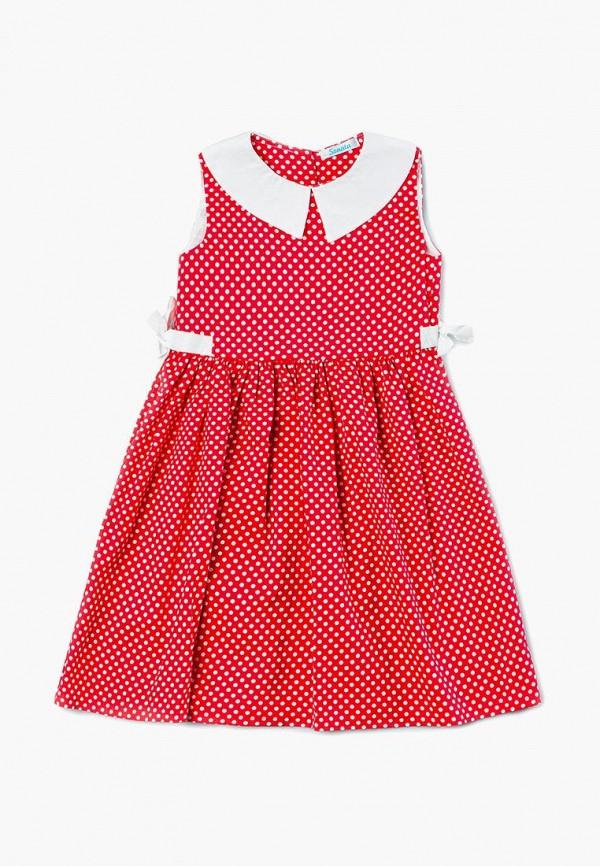 повседневные платье sonata kids для девочки, красное