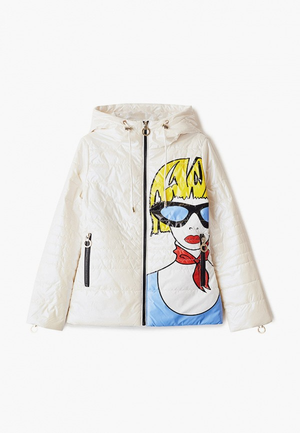 утепленные куртка mes ami для девочки, белая