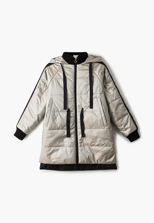 утепленные куртка шалуны для девочки, бежевая