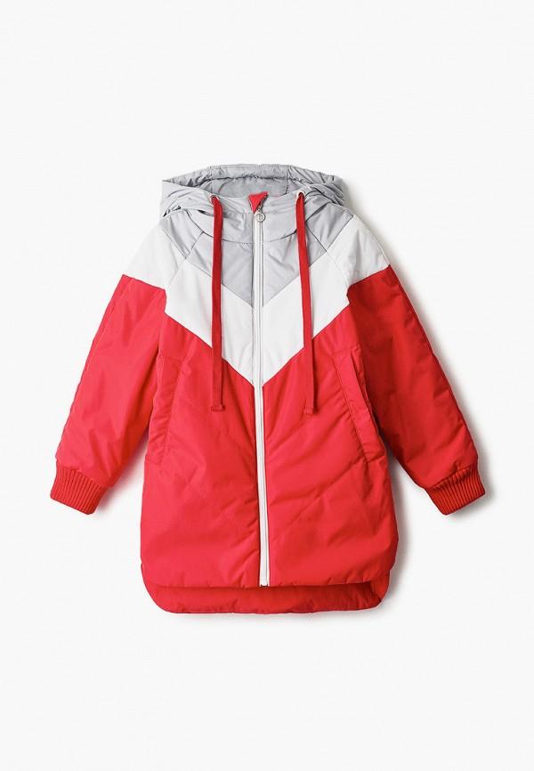 утепленные куртка шалуны для девочки, красная