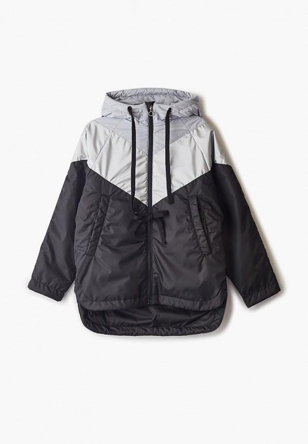 утепленные куртка шалуны для девочки, черная