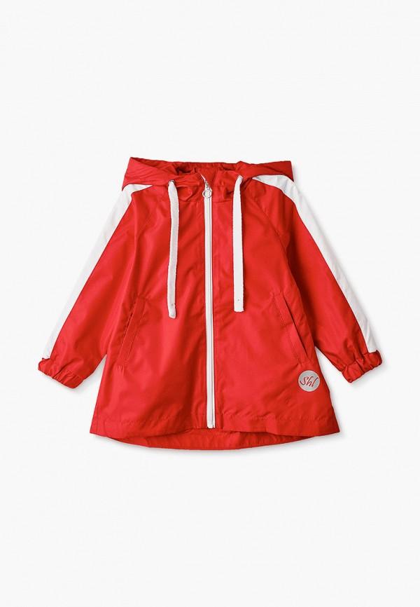 легкие куртка шалуны для девочки, красная