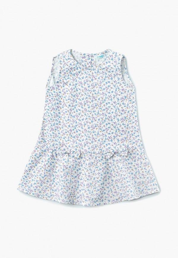 повседневные платье sonata kids для девочки, голубое