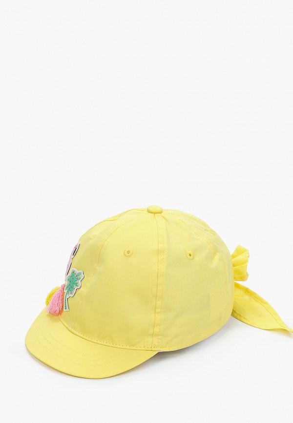 бейсболка coccodrillo для девочки, желтая