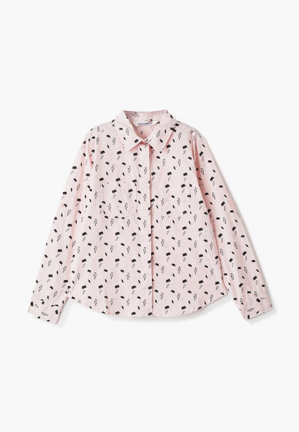 рубашка coccodrillo для девочки, розовая