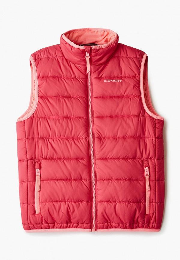 утепленные жилет icepeak для девочки, розовый