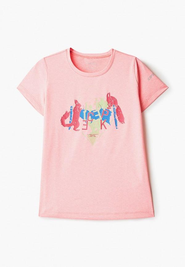 футболка с коротким рукавом icepeak для девочки, розовая