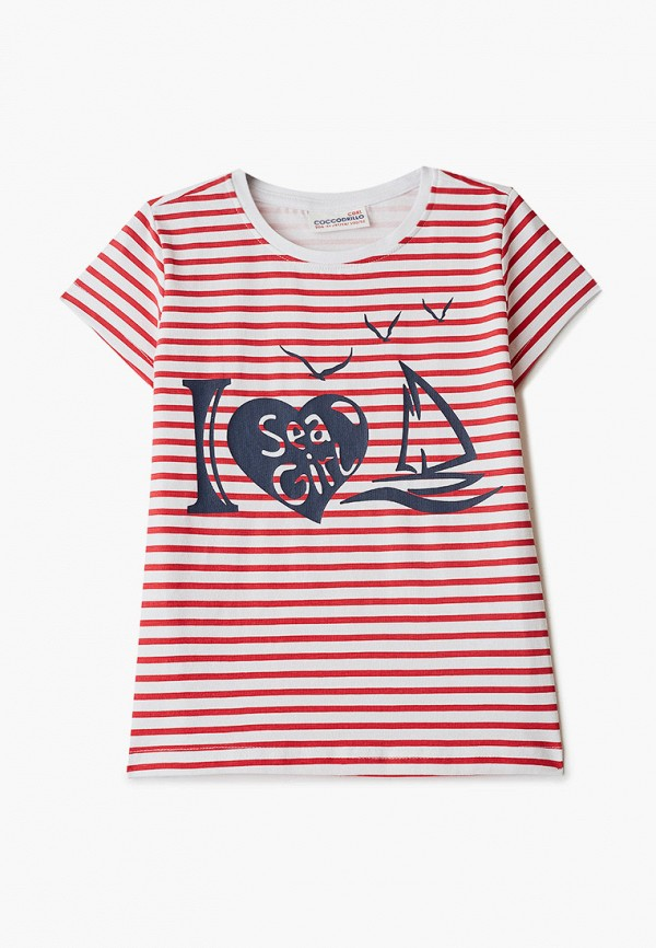 футболка с коротким рукавом coccodrillo для девочки, красная