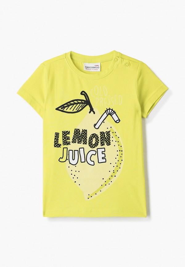 футболка с коротким рукавом coccodrillo для девочки, зеленая