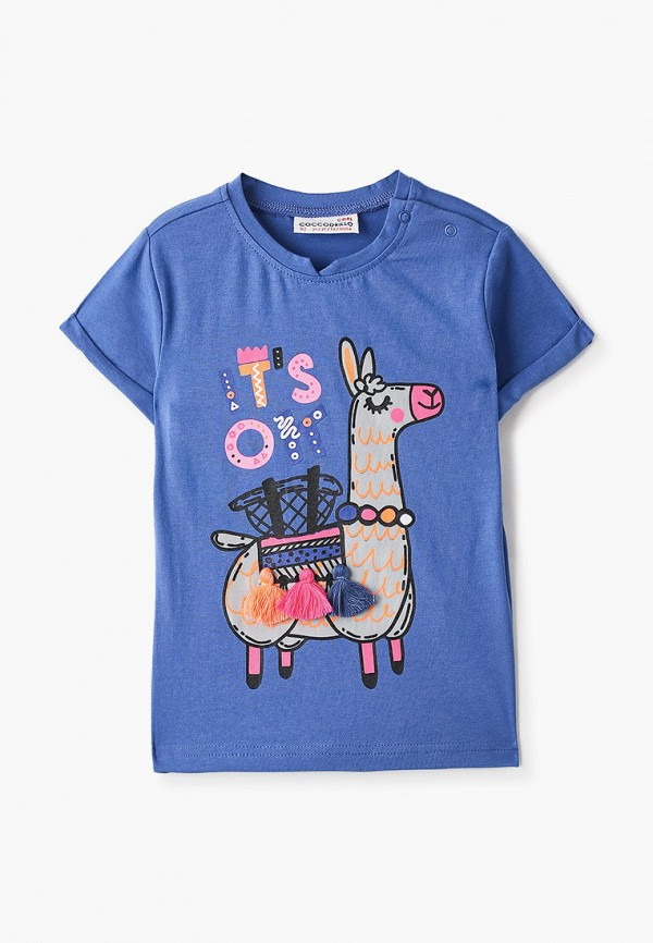 футболка с коротким рукавом coccodrillo для девочки, голубая