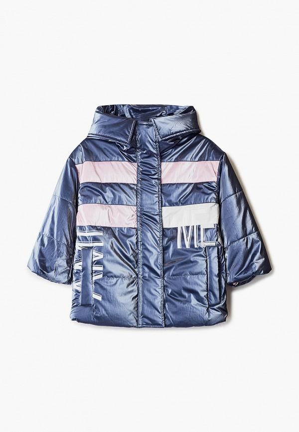 утепленные куртка mes ami для девочки, синяя