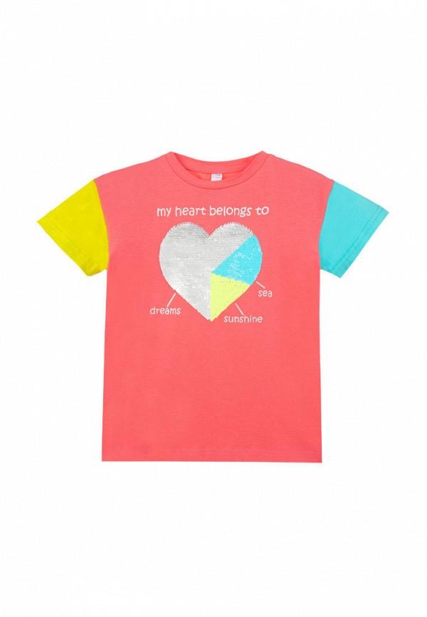 футболка с коротким рукавом playtoday для девочки