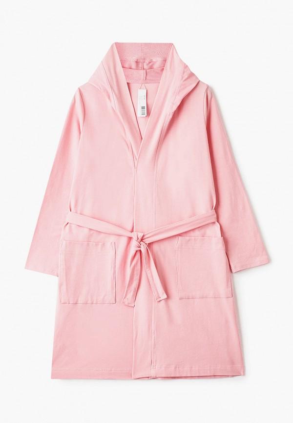 халат sela для девочки, розовый