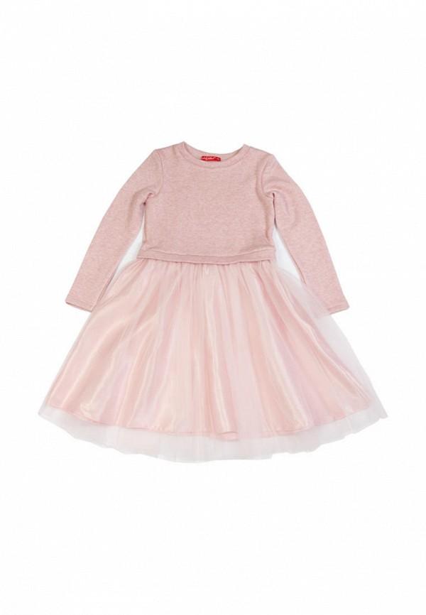 повседневные платье sofia shelest для девочки, розовое