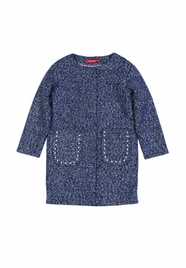 пальто sofia shelest для девочки, синее