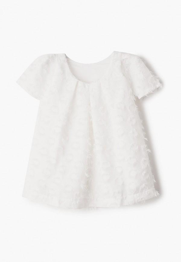 нарядные платье sela для девочки, белое