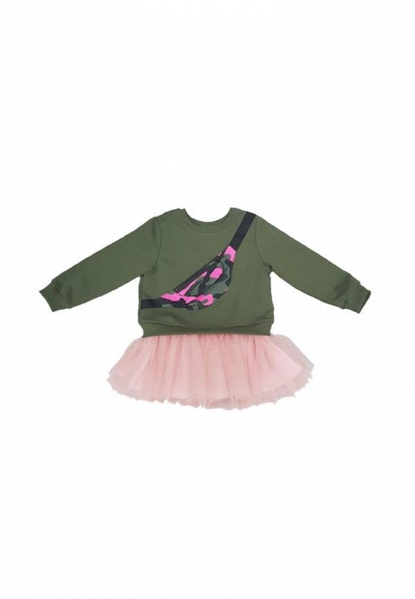 повседневные платье ёмаё для девочки, хаки