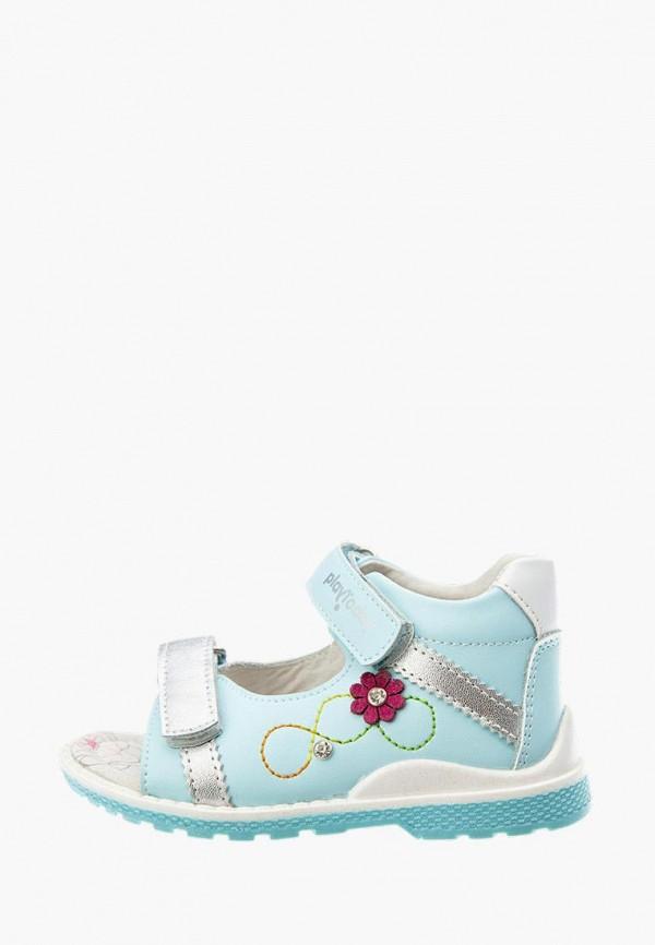сандалии playtoday для девочки, голубые