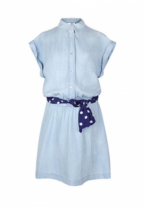 повседневные платье le temps des cerises для девочки, голубое