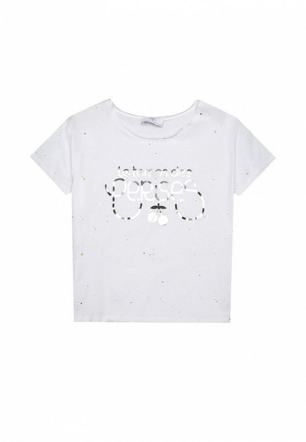 футболка с коротким рукавом le temps des cerises для девочки, белая