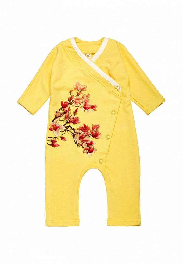 комбинезон с брюками ёмаё для девочки, желтый