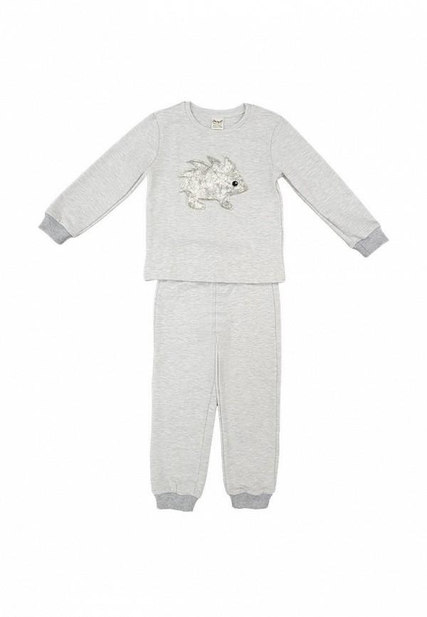 пижама ёмаё для девочки, серая