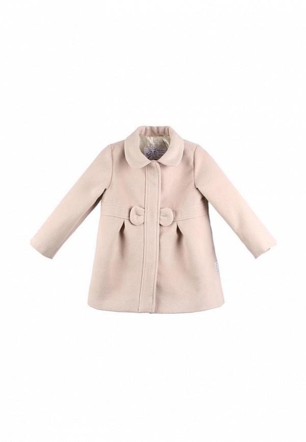 пальто kat для девочки, бежевое
