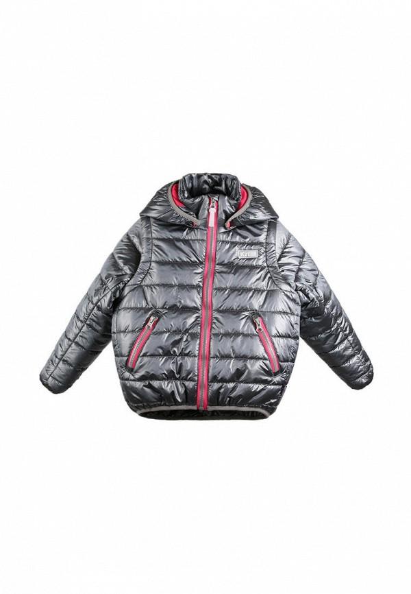 куртка kat для девочки, серебряная